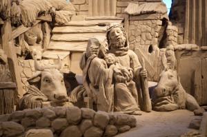 il famoso presepe di Lignano realizzato in sabbia
