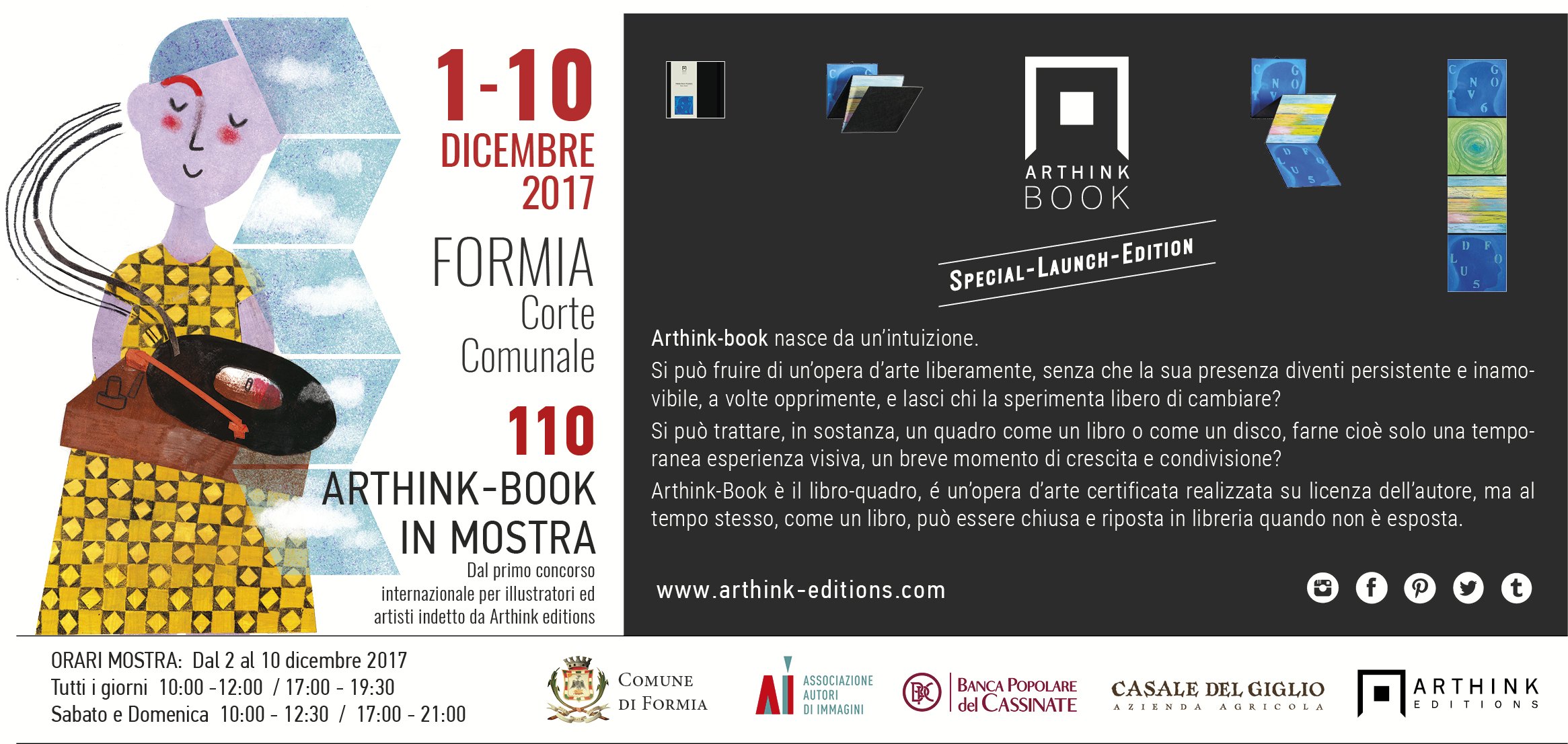 Invito Arthink Formia 1 dic 2017