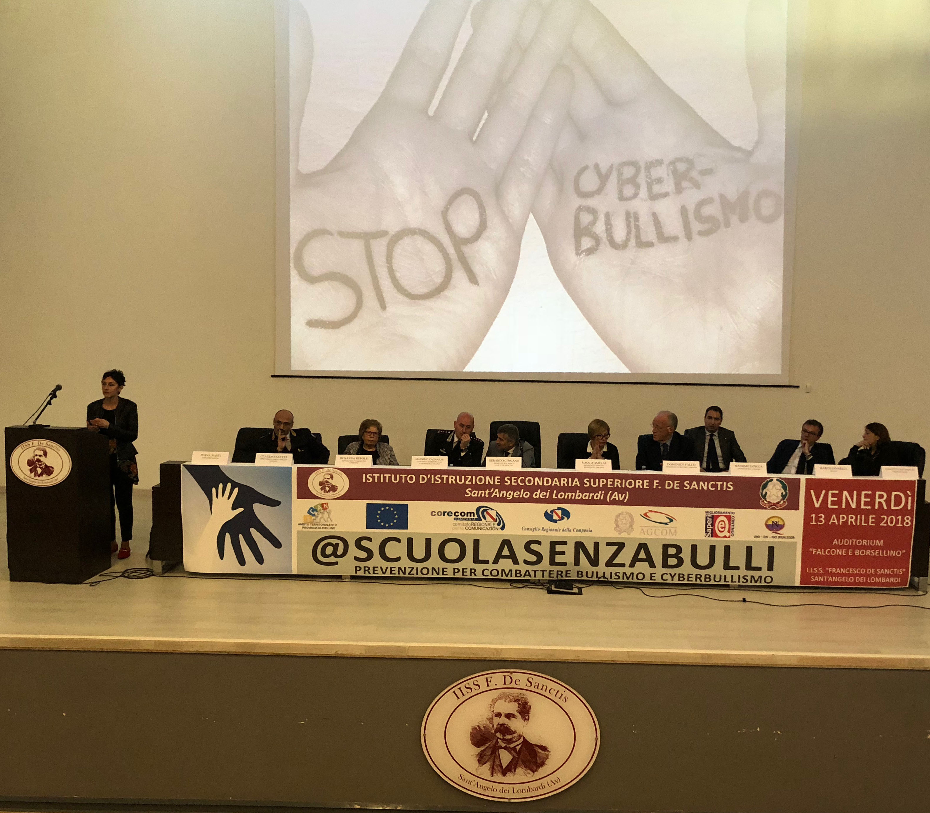 A Sant'Angelo dei Lombardi la prima tappa di @scuolasenzabulli promossa dal Corecom Campania