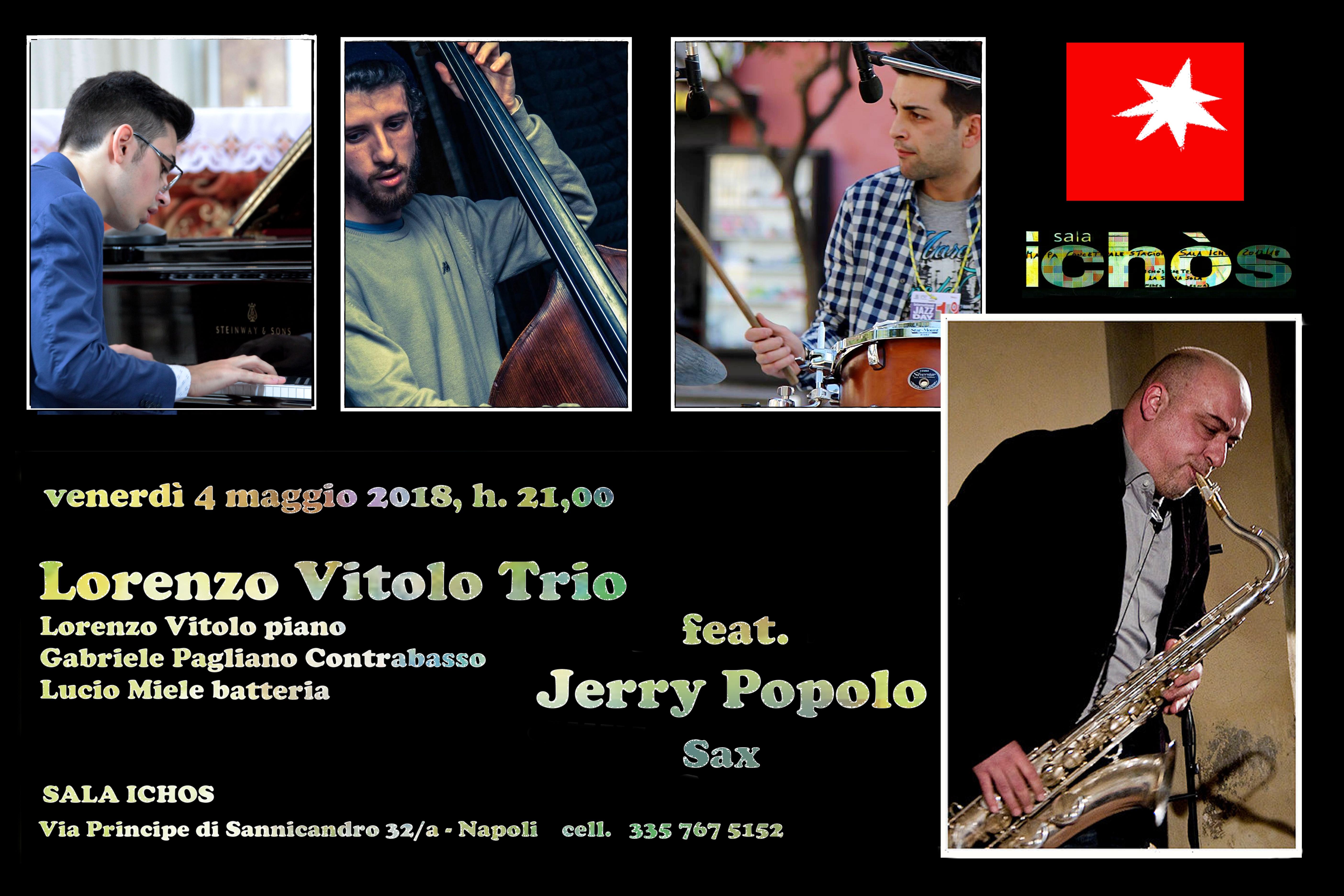 Arrangiamenti originali e tradizione jazz per il concerto del Lorenzo Vitolo Trio a Sala Ichòs