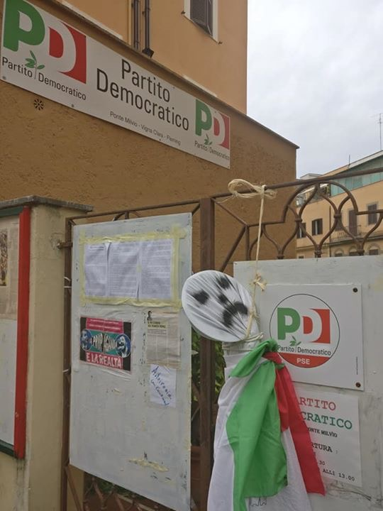 Angelucci: attacco al circolo PD Ponte Milvio riporta Roma agli anni più bui ma non ci fanno paura