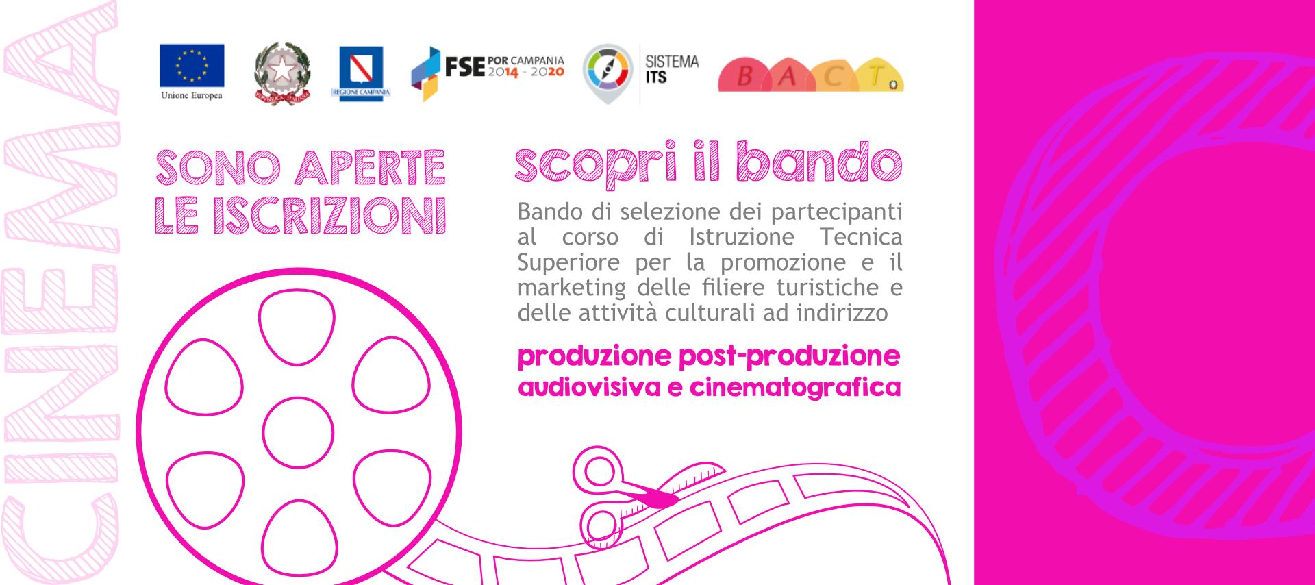 Cinema e audiovisivo: corso finanziato in Campania