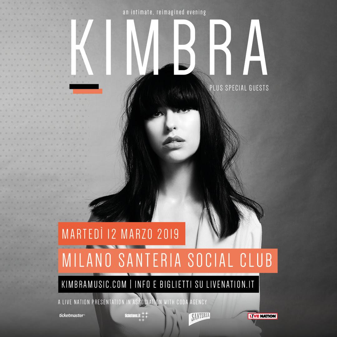Musica, Kimbra finalmente a Milano