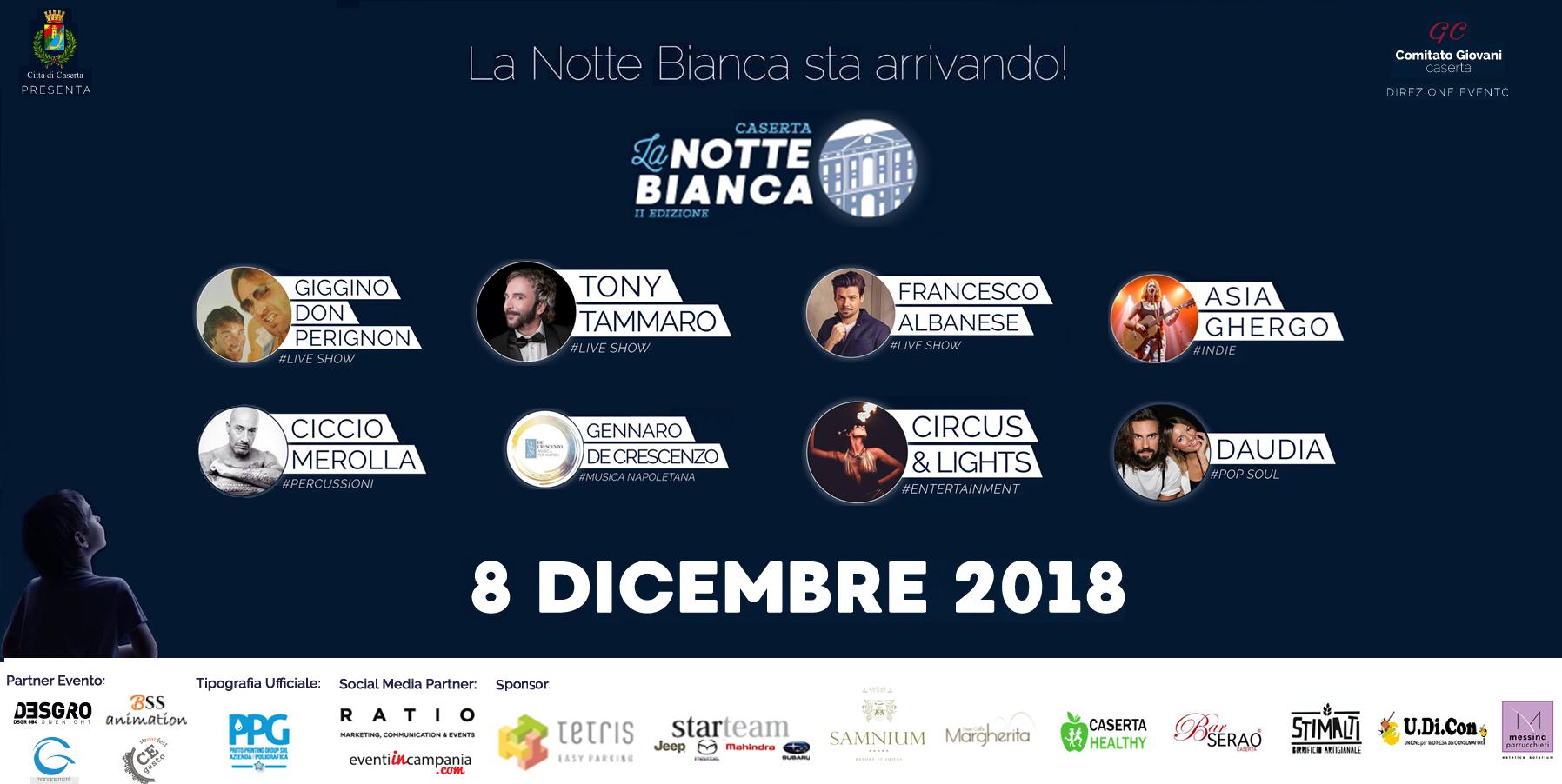 Notte Bianca a Caserta: definito il programma dell'evento
