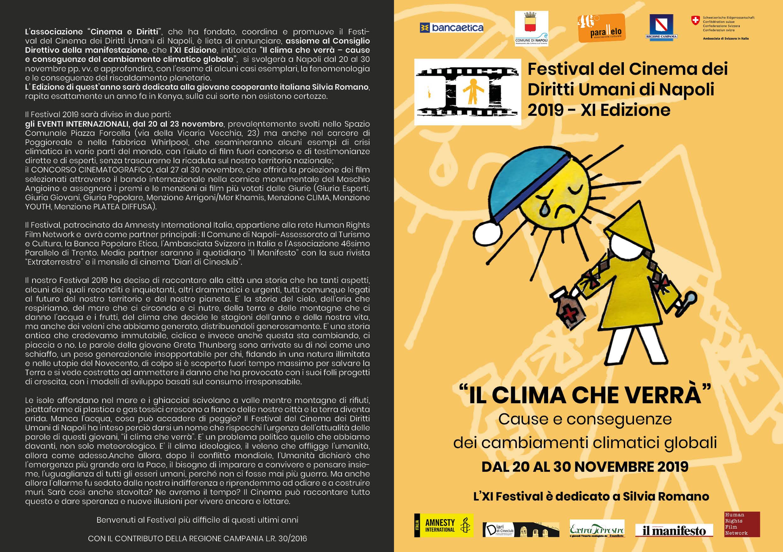 Appuntamenti Festival Cinema Diritti Umani Napoli del 22/11/2019