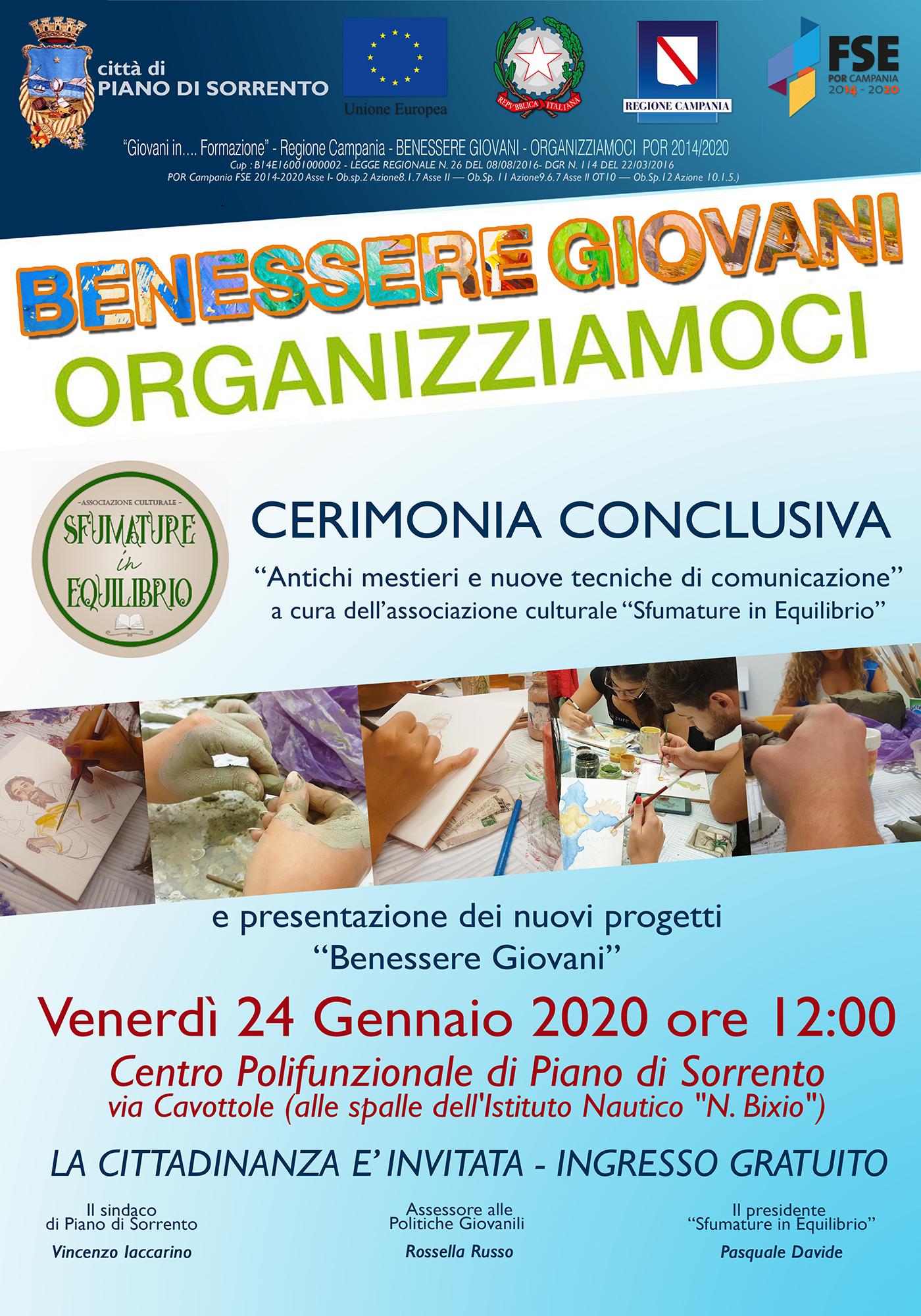 Benessere Giovani: appuntamento il 24 gennaio al Centro Polifunzionale di Piano di Sorrento