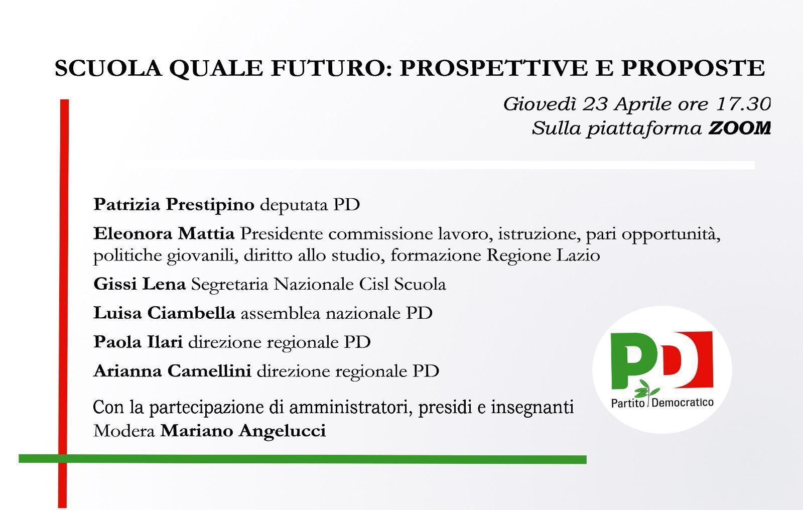 """Covid-19; Angelucci/Ciambella (PD): """"riapertura scuole sia una priorità"""""""