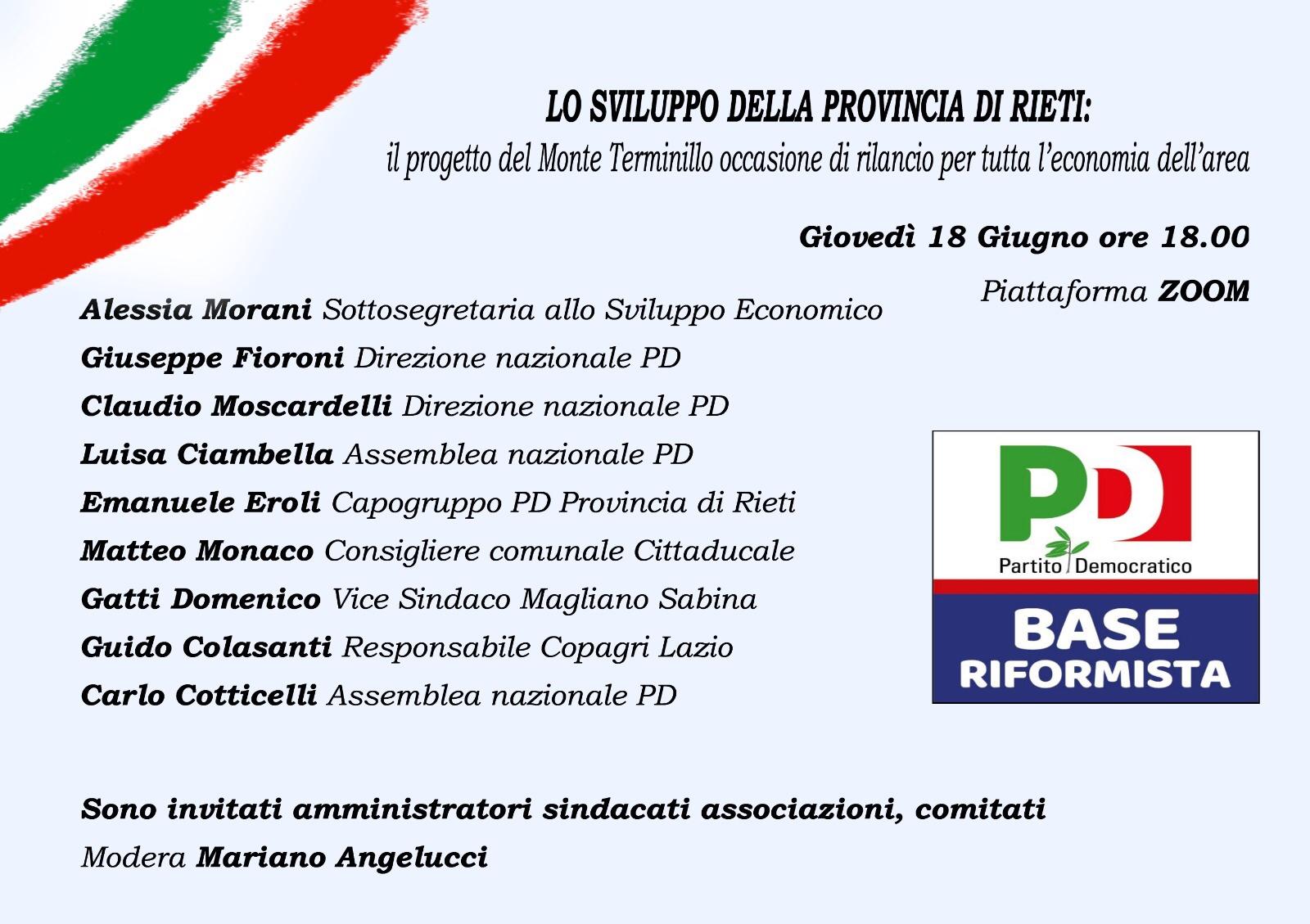 """Monte Terminillo - Eroli/Monaco: """"dallo sbocco del progetto dipende il futuro dell'economia del reatino"""""""