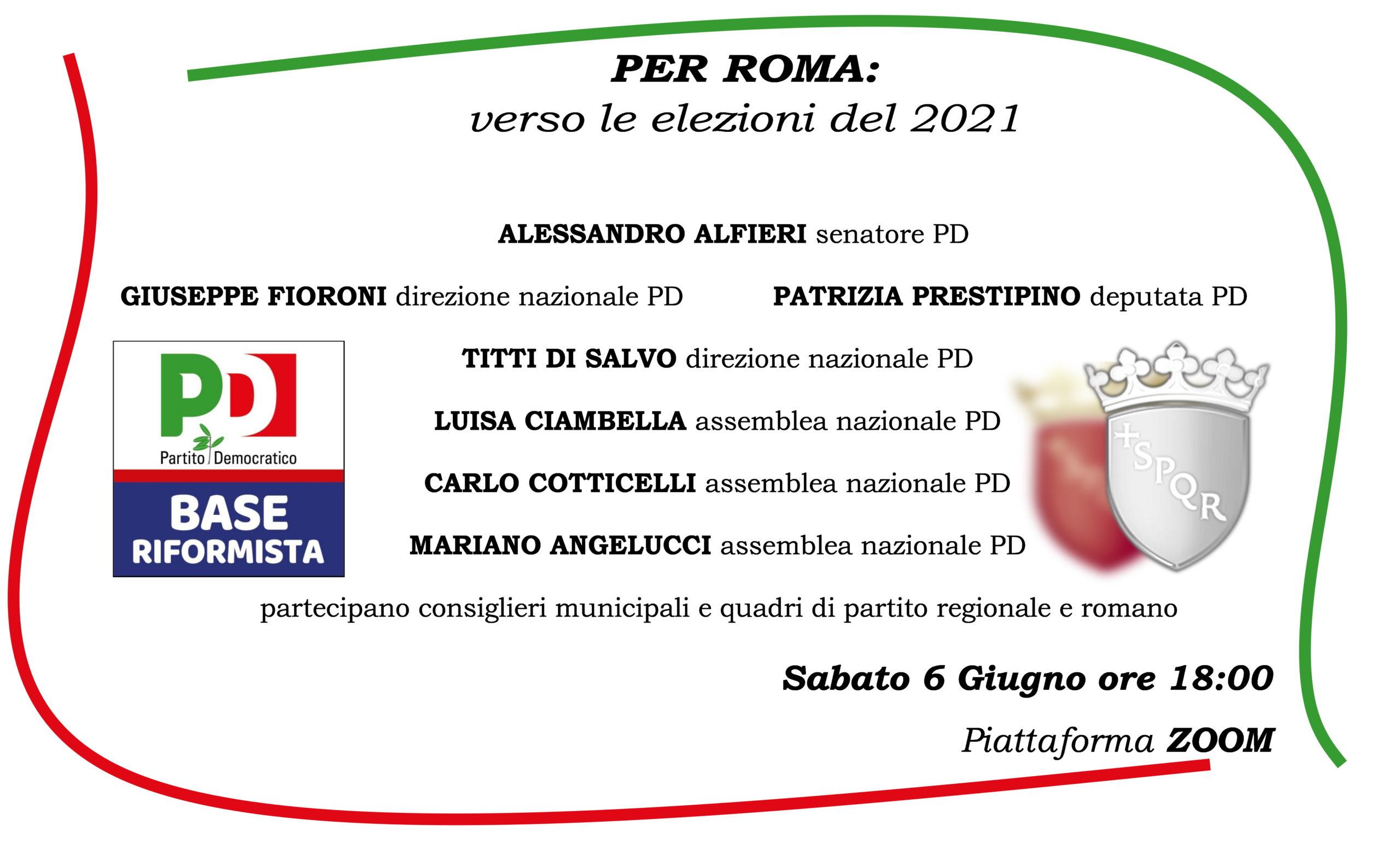 PER ROMA: verso le elezioni del 2021