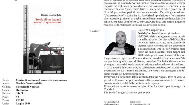 """""""Storia di un (quasi) amore in quarantena"""", il primo libro di Davide Gambardella"""
